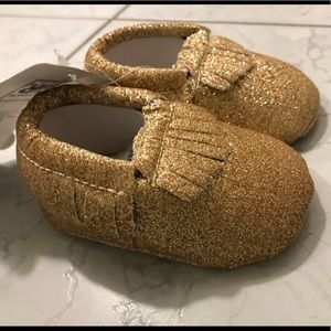 Other - Gold Glitter Baby Moccasins